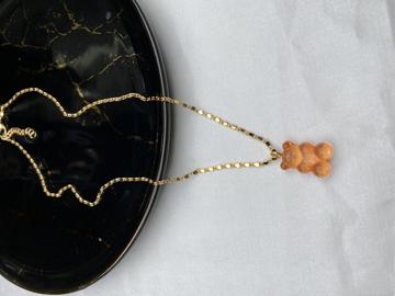 Altın Kaplama Zincir Üzeri Ayıcık Uç-1202 resmi